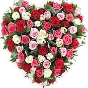 SPECIAL MIX ROSES HEART FOR SOMEONE SPECIAL